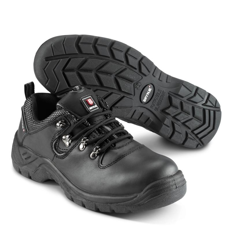 BRYNJE 290 Brick safety shoe.  Durable full grain leather.