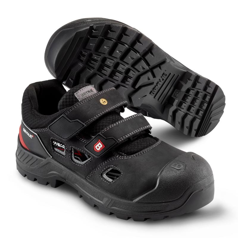 BRYNJE 414 Surfer safety sandal. Solid closure and wide fit