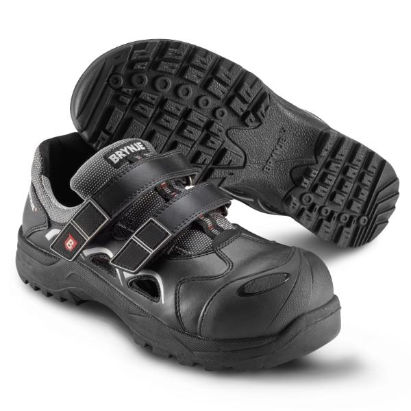 BRYNJE 464 Heat safety sandal. Double hook and loop closure